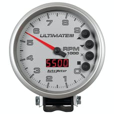 """AutoMeter Products 6882 5"""" Ultimate Plus (Engine + Driveshaft). 9,000 RPM, Silver"""