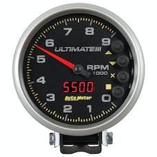 "AutoMeter Products 6887 5"" Ultimate Plus (Engine + Driveshaft). 9,000 RPM, Black"