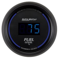 AutoMeter Products 6910 2-1/16in Fuel Level  Prog with Presets Digital Black