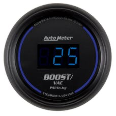 AutoMeter Products 6959 2-1/16in Boost-Vac 30/30 Digital Black