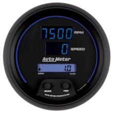 AutoMeter Products 6987 GAUGE; TACH/SPEEDO; 3 3/8in.; 260MPH/260 KM/H/10K RPM; ELEC. PROGRAM; DIGITAL; B