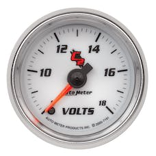 AutoMeter Products 7191 Gauge; Voltmeter; 2 1/16in.; 18V; Digital Stepper Motor; C2