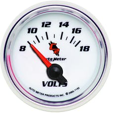 AutoMeter Products 7192 Gauge; Voltmeter; 2 1/16in.; 18V; Electric; C2