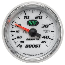 AutoMeter Products 7308 Boost/Vac 30in Hg/45 PSI