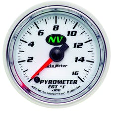 AutoMeter Products 7344 GAUGE; PYROMETER (EGT); 2 1/16in.; 1600deg.F; DIGITAL STEPPER MOTOR; NV
