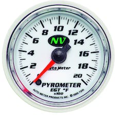 AutoMeter Products 7345 Gauge; Pyrometer (EGT); 2 1/16in.; 2000deg.F; Digital Stepper Motor; NV