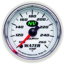 AutoMeter Products 7355 Gauge; Water Temp; 2 1/16in.; 100-260deg.F; Digital Stepper Motor; NV