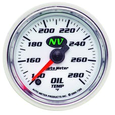 AutoMeter Products 7356 Gauge; Oil Temp; 2 1/16in.; 140-280deg.F; Digital Stepper Motor; NV
