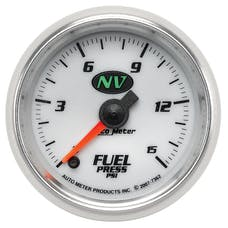 AutoMeter Products 7362 Gauge; Fuel Pressure; 2 1/16in.; 15psi; Digital Stepper Motor; NV