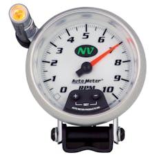 AutoMeter Products 7390 Gauge; Tachometer; 3 3/4in.; 10k RPM; Pedestal w/ext. Quick-Lite; NV