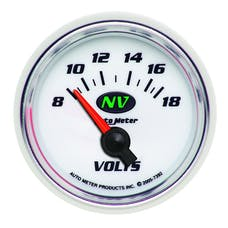 AutoMeter Products 7392 Gauge; Voltmeter; 2 1/16in.; 18V; Electric; NV