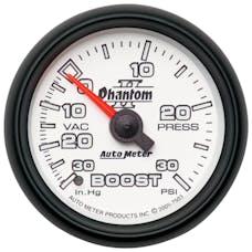 AutoMeter Products 7503 Gauge; Vac/Boost; 2 1/16in.; 30inHg-30psi; Mechanical; Phantom II