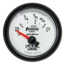 AutoMeter Products 7518 GAUGE; FUEL LEVEL; 2 1/16in.; 16OE TO 158OF; ELEC; PHANTOM II