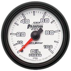 AutoMeter Products 7521 Gauge; Oil Pressure; 2 1/16in.; 100psi; Mechanical; Phantom II