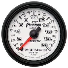 AutoMeter Products 7545 Gauge; Pyrometer (EGT); 2 1/16in.; 2000deg.F; Digital Stepper Motor; Phantom II