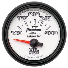 AutoMeter Products 7548 Gauge; Oil Temp; 2 1/16in.; 140-300deg.F; Electric; Phantom II