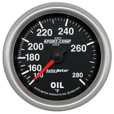 AutoMeter Products 7641 Sport-Comp II 2-5/8in Oil Temp, 140- 280F, 6' Tubing, Mech
