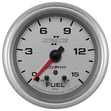 AutoMeter Products 7761 Ultra-Lite II® Electric Fuel Pressure Gauge 2 5/8 in. 0 - 15 psi Incl. 1/8 in.