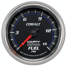 AutoMeter Products 7911 Gauge; Fuel Pressure; 2 5/8in.; 15psi; Mechanical; Cobalt