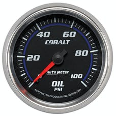AutoMeter Products 7921 Gauge; Oil Pressure; 2 5/8in.; 100psi; Mechanical; Cobalt