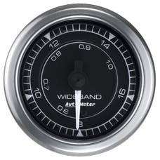 AutoMeter Products 8170 Chrono Gauge, Air/Fuel Ratio-Wideband, Analog, Stepper Motor