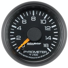AutoMeter Products 8344 GAUGE; PYROMETER (EGT); 2 1/16in.; 1600deg.F; STEPPER MOTOR; GM FACTORY MATCH