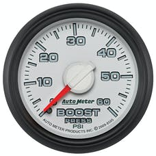 AutoMeter Products 8505 Mechanical Boost Gauge 2 1/16 in. 0 - 60 psi Incl. 10 ft. Nylon Tubing Universal