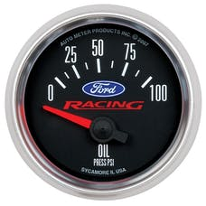 AutoMeter Products 880076 Ford Racing Series Electric Oil Pressure Gauge 2 1/16in. 0-100 psiShort Sweep