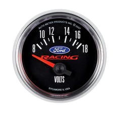 """AutoMeter Products 880081 2-1/16"""" Voltmeter, 8-18V, Ford Racing"""