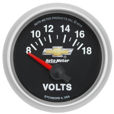 AutoMeter Products 880444 GAUGE; VOLTMETER; 2 1/16in.; 18V; ELECTRIC; GM COPO CAMARO