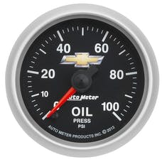 """AutoMeter Products 880447 2-1/16"""" Oil Press, 0-100 PSI, FSE, GM, COPO Camaro"""
