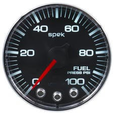 "AutoMeter Products P314318 Fuel Pressure Gauge, 2 1/16"", 100PSI, Stepper Motor  Black"
