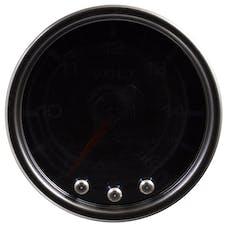 AutoMeter Products P34452 Volt; 2in.; 16V; Stepper Motor w/Peak/Warn; Blk/Smoke/Blk; Spek