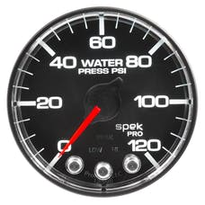 "AutoMeter Products P345318 Water Pressure Gauge 2 1/16"", 120PSI, Stepper Motor Black"