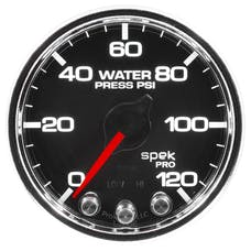 "AutoMeter Products P34531 Water Pressure Gauge 2 1/16"", 120PSI, Stepper Motor Black"