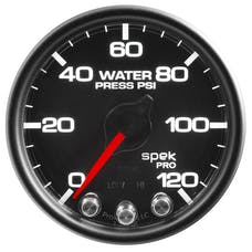 "AutoMeter Products P34532 Water Pressure Gauge 2 1/16"", 120PSI, Stepper Motor Black"