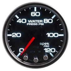 AutoMeter Products P34552 WPress; 2in.; 120psi; Stepper Motor w/Peak/Warn; Blk/Smoke/Blk; Spek