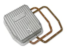 B&M 40291 Cast Deep Transmission Pan for AODE and 4R70W Transmission