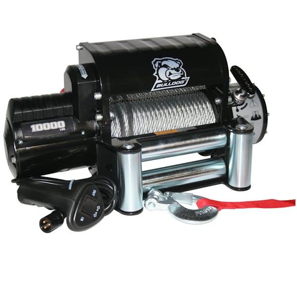 Bulldog Winch 10005 10000lb Winch w/5.8hp Series Wnd Motor, Integrated Pwr Unit, Roller Fairlead