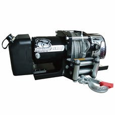 Bulldog Winch 10029 5800lb Trailer Winch, 55' wire Rope, Roller Fairlead, Mnt Plate, Low Profile