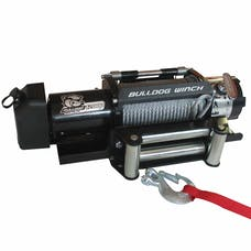 Bulldog Winch 10039 12000lb Trailer Winch, Wire Rope, Roller Fairlead