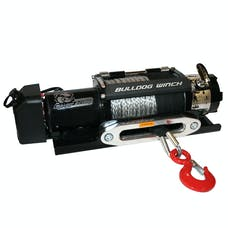 Bulldog Winch 10040 12000lb Trailer Winch, Synthetic Rope, Hawse Fairlead