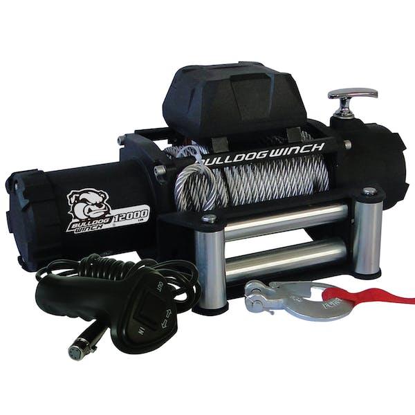 Bulldog Winch 10043 12000lb Winch with 6.0hp Series Wound Motor, Roller Fairlead