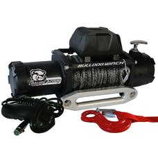 Bulldog Winch 10046 12000lb Winch w/6.0hp Series Wound, 100ft Synthetic Rope, Aluminum Frld