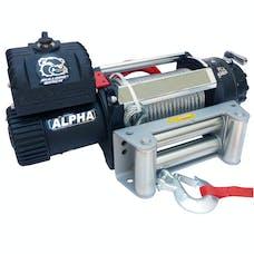 Bulldog Winch 10047 15000lb Alpha Truck Winch, Wire rope, roller fairlead