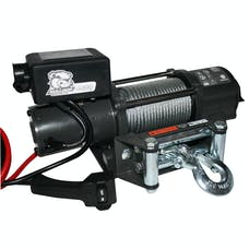 Bulldog Winch 15019 4400lb Trailer/Utility Winch 55' Wire Rope, Roller Fairlead, Mnt Plate