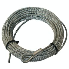 "Bulldog Winch 20222 Wire Rope for 15017, 3/16""x45'"