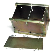 Competition Engineering C4029 Battery/Weight Box; 1/8 in. Mild Steel