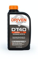Driven Racing Oil 02406 DT40 5W-40 Synthetic Performance Motor Oil (1 qt. bottle)