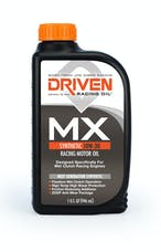 Driven Racing Oil 03106 MX1 Synthetic 10W-30 Racing Motor Oil (1 qt. bottle) for Wet Clutch